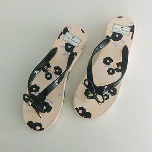 Kate Spade Rhett Floral Wedge Flip Flop Sandal